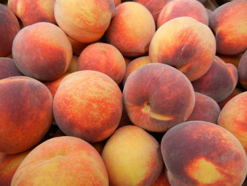 Peaches piled up
