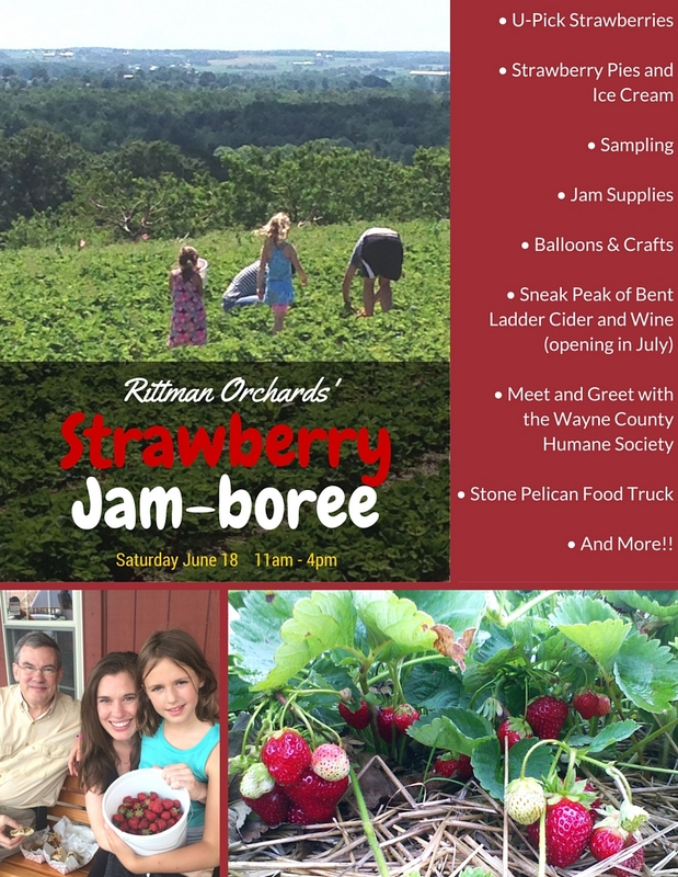 Poster for our Strawberry Jam-boree Festival June 18th