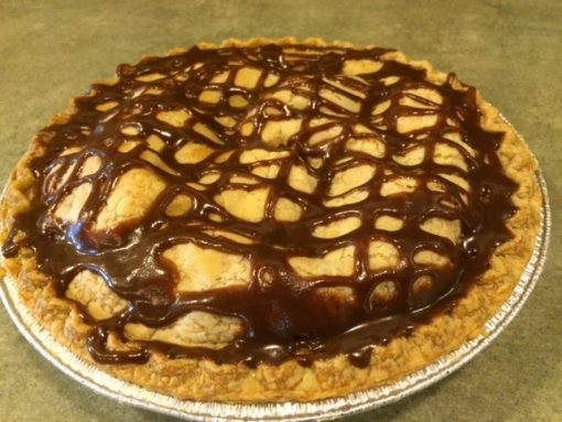 Caramel Apple Walnut Pie