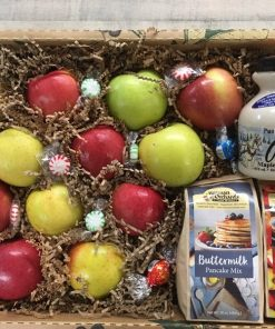 The Sunday Brunch Box - Apples, 2 of our pancake mixes, and a pint of maple syrup