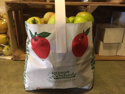 A bag of apples