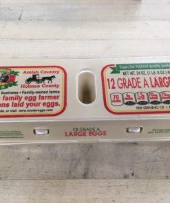A dozen Sauder's eggs